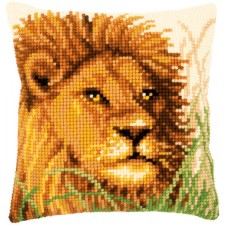 Cross stitch cushion kit Lion