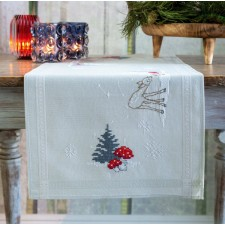 Table runner kit Winter Christmas landscape