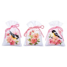 Bag kit Birds and blossoms set of 3