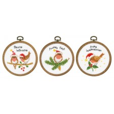 Miniature kit Christmas birds set of 3