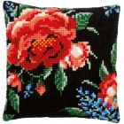 Cross stitch cushion kit Rose