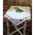 Aida tablecloth kit Colourful flowers