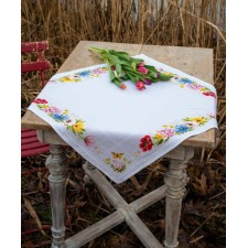 Aida tablecloth kit Colourful flowers