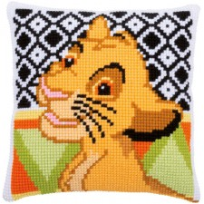 Cross stitch cushion kit Disney Simba