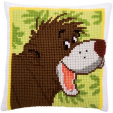 Cross stitch cushion kit Disney Baloo