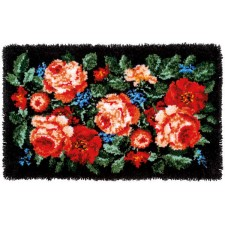Latch hook rug kit Roses