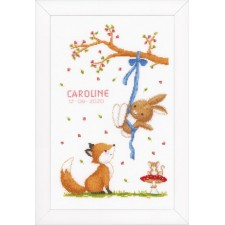 Counted cross stitch kit Forest friends