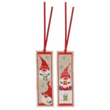 Bookmark kit Christmas gnomes set of 2