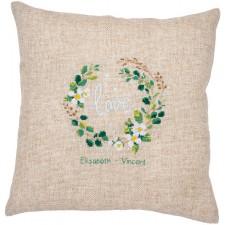 Embroidery cushion kit Love