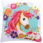 Cross stitch cushion kit Mother and baby unicorn