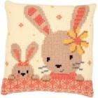 Cross stitch cushion kit Sweet bunnies