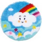 Latch hook shaped rug kit Little rainbow cloud