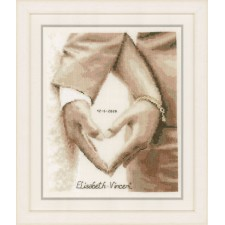 Counted cross stitch kit Heart of the newlyweds