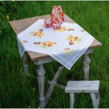 Tablecloth kit Orange flowers and butterflies