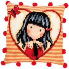 Cross stitch cushion kit Gorjuss Time to fly