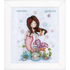 Counted cross stitch kit Gorjuss Nice to sea you