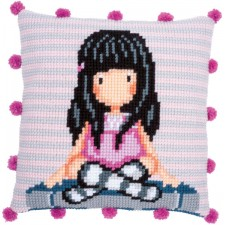 Cross stitch cushion kit Gorjuss The words