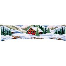 Cross stitch draft stopper kit Winter scenery