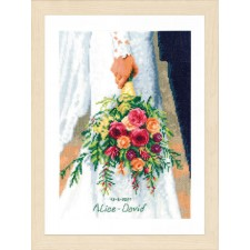 Counted cross stitch kit Bridal bouquet