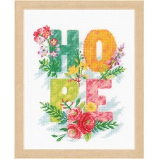 Counted cross stitch kit Hope