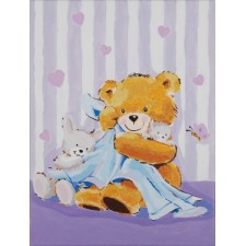 Paint by Number kit Bear with a blanket