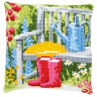 Cross stitch cushion kit My garden