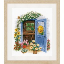 Counted cross stitch kit My garden shed