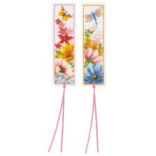 Bookmark kit Colourful flowers set of 2