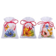 Bag kit Colourful flowers set of 3