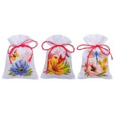 Bag kit Colourful flowers set of 3
