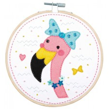 Craft kit with felt Flamingo