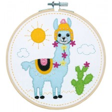 Craft kit with felt Llama