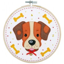 Craft kit with felt Dog