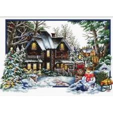 Voorbedrukt borduurpakket Winter Comes