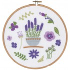 Embroidery kit with ring Lavender