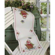Mandje kersen tafellopertje - Cherries in a basket Table Runner
