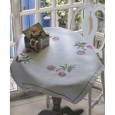 Tafelkleedje roze bloemetjes- Sweet briers Tablecloth