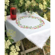 Tafelkleedje zomerbloemen - Summer Flowers Tablecloth Inc Lace