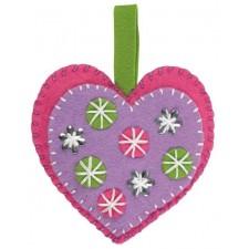 Vilten kersthart - Heart deco