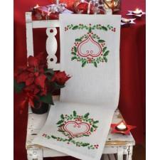 Kerstloper bosbessen - Lingonberry heart Runner