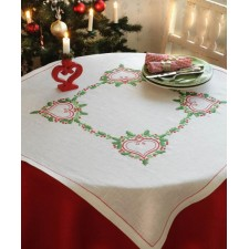 Tafelkleed bosbessen - Lingonberry heart Tablecloth
