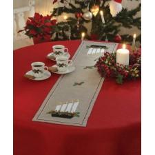 Kerstloper met kandelaar - Advent candlestick Runner