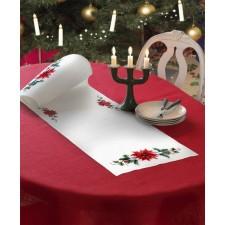 OP=OP) Kerstloper met kerstster - Poinsettia Runner