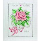 Trouwtegel Bruidsboeket roos - Rose Bouquet Wedding Sampler