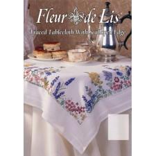 Fleur de Lis: Lente tafelkleed - Spring Flower Tablecloth