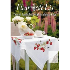 Fleur de Lis: Aardbeien - Strawberries Tablecloth