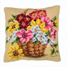 Kussen Floral Basket