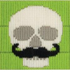 Schedel met snor - Skull with Moustache