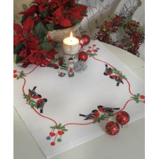 Kerst tafelkleedje Vogels - Birds Tablecloth