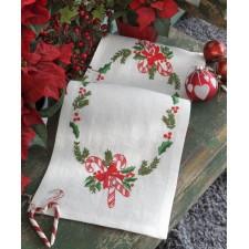 Kerst tafellopertje Kerstsnoep - Christmas Candy Runner